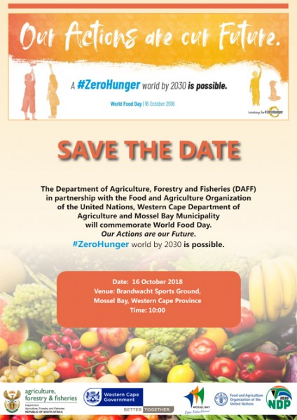 world food day 2018 rony save the date